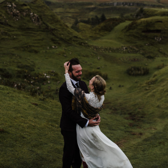 Isle of Skye elopement with parents